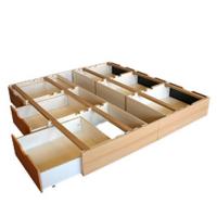 Sockel mit Schubladen und Bodenplatte