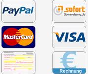 Bettlaken bezahlen Sie am besten mit Kreditkarten oder Überweisung